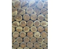 1 x 1.8m (6ft) x 100mm Half Round Pointed Tanilised Tree Posts / Stakes