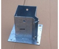 10 x 100mm Galvanised Bolt Down Fence Support