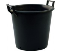30 Litre Heavy Duty Plastic Rubber Plant Pot With Handles - 2 Pack