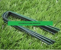 1000 GALVANIZED GREEN STEEL ARTIFICAL GRASS STAPLES / PEGS / PINS 150mm x 30mm x 150mm