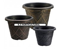 10 x 40cm Antique Effect Plastic Florence Style Planters (Various Colours)