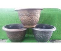 10 x 44cm Antique Effect Plastic Florence Style Planters (Various Colours)