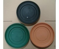 20cm Venetian Plastic Planter Pot Saucers - (Various Colours)