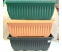 70cm Athens Plastic Patio Planters - Various Colours