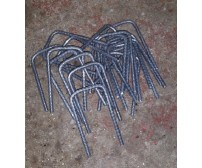 RIBBED STEEL U PINS GRASS / TURF REINFORCEMENT FIXING PINS 100mm x 50mm x 100mm