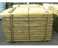 8ft (2.4m x 50mm) Round Pointed Tanilised Tree Posts / Stakes