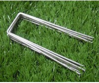 GALVANISED STEEL GROUND COVER FIXING STAPLES / PEGS / PINS 150mm x 30mm x 150mm