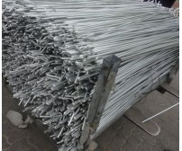 10 x 1.3m (1300mm) Galvanised Metal Fencing Pins 10mm Dia