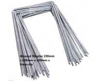 1000 GALVANIZED STEEL GROUND COVER FIXING STAPLES / PEGS / PINS 150mm x 100mm x 150mm