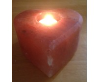 HIMALAYAN ROCK SALT CANDLE TEALIGHT HOLDER (HEART/LAR) DESIGN
