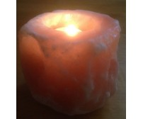 HIMALAYAN ROCK SALT CANDLE TEALIGHT HOLDER (NATURAL) DESIGN