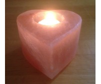 HIMALAYAN ROCK SALT CANDLE TEALIGHT HOLDER (HEART/SM) DESIGN