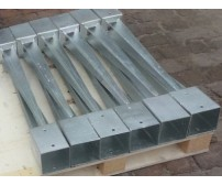 10  x 75mm Galvanised Fence Post Spike