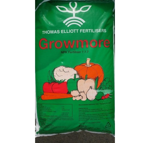 GROWMORE Compound Fertiliser - 25kg (Thomas Elliotts)