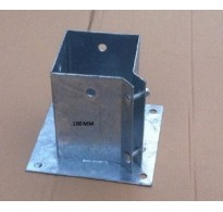 100mm Galvanised Bolt Down Fence Support