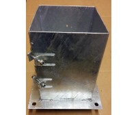 150mm Galvanised Bolt Down Fence Support
