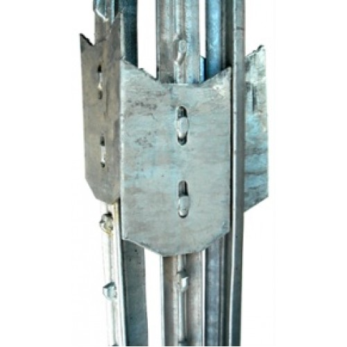 2 x 6ft Galvanized Steel Studded T-Post Metal Fence Post Stake
