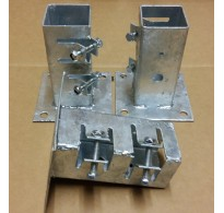 50mm Galvanised Bolt Down Fence Support