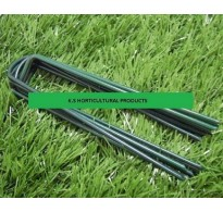 GREEN GALVANIZED STEEL ARTIFICAL GRASS STAPLES / PEGS / PINS 150mm x 30mm x 150mm