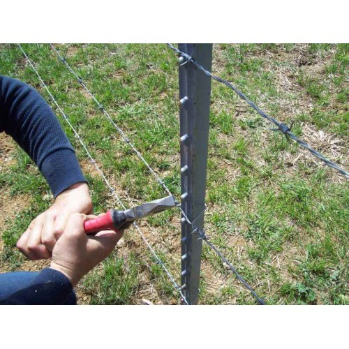 Metal T Post x 6ft galvanized steel studded t-post metal fence post stake