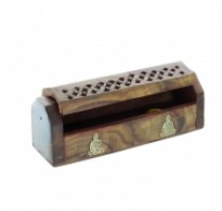"2 x 6"" Wooden Incense Holder Ash Catcher"
