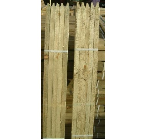 10 x 1.8m (6ft) Square & Pointed Tanalised Tree Stakes / Posts