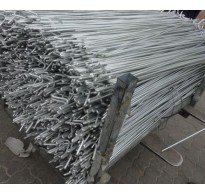 10 x 1.3m (1300mm) Galvanised Metal Fencing Pins 8mm Dia